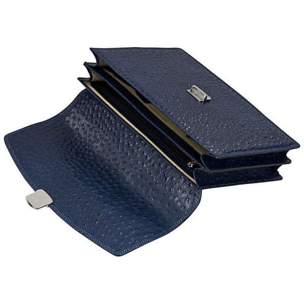 blue leather bags by Handmacher