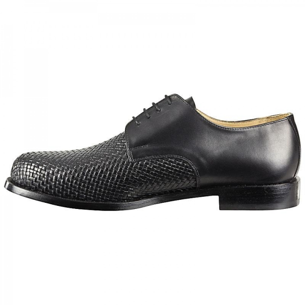 woven leather shoes men