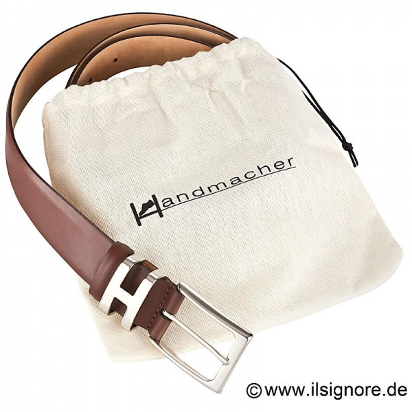 Handmacher belt boxcalf brown