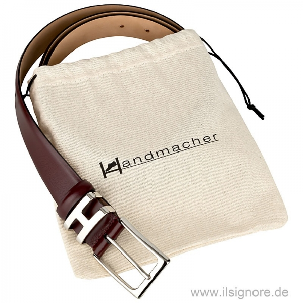 Handmacher belt boxcalf leather red