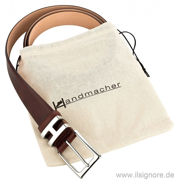 Handmacher belt dark brown