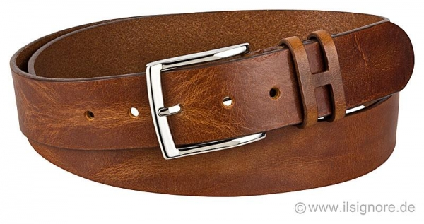 Handmacher belt in antique finish