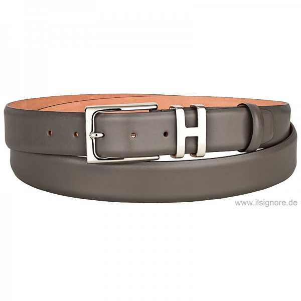 Handmacher gray leather belt
