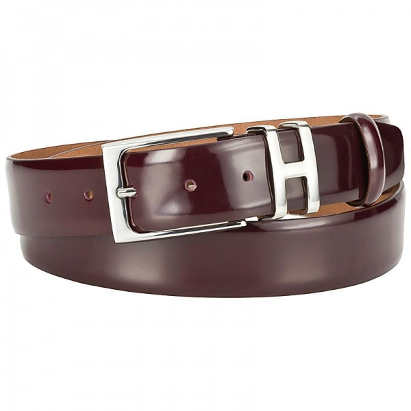 Handmacher oxblood belt mens
