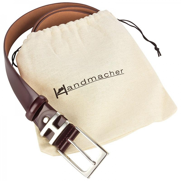 Handmacher belt oxblood leather