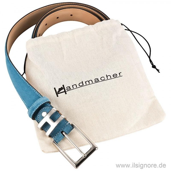 Handmacher belt in color petrol
