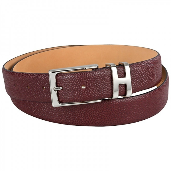 Handmacher red leather belt