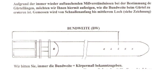 Handmacher length of the belt