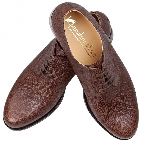 plain derby shoes brown