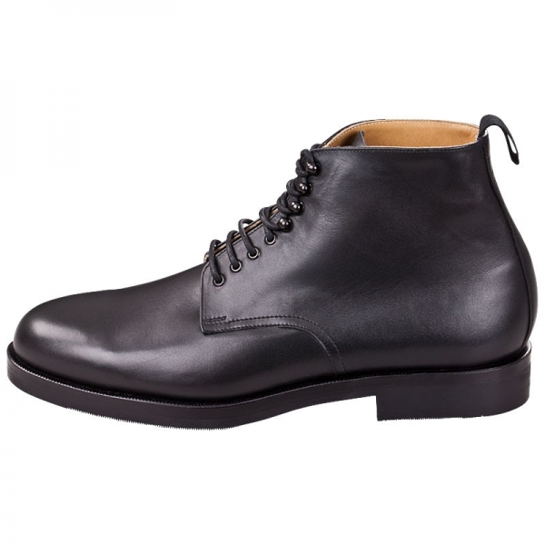 black leather boots mens
