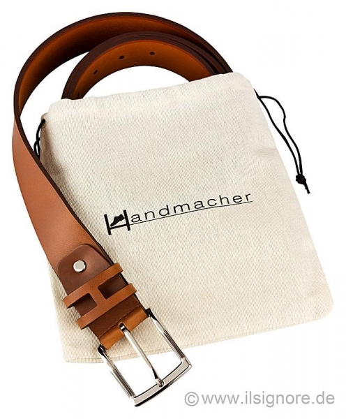 Handmacher cognac colour jeans belt for men