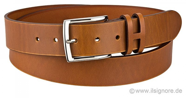 Handmacher leather belt in cognac