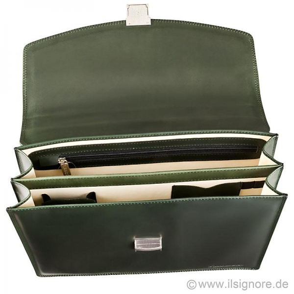 Handmacher leather bag green