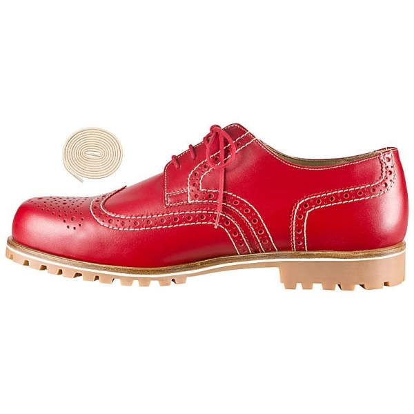 Handmacher red blazing shoes