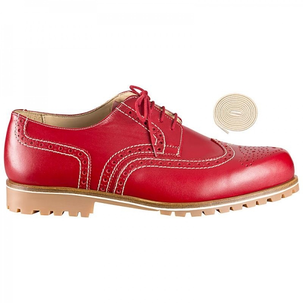 full brogue derby shoe red
