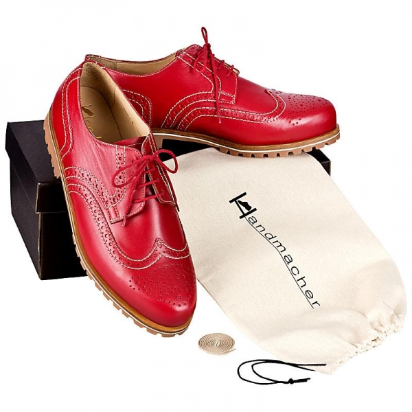 Handmacher model 15 blazing red calfskin