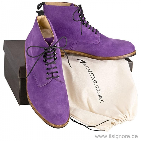 Handmacher model 59 purple suede