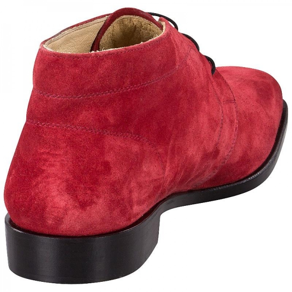 George Boots in red suede