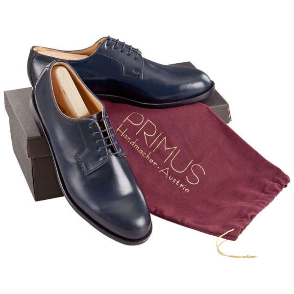 Handmacher model Primus Blucher 29 shell cordovan blue