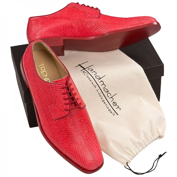 Handmacher model Trend 80 red salmon leather