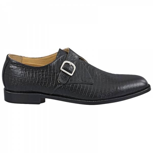 Handmacher black monk shoes