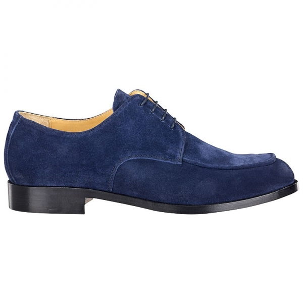 Derby shoe made of suede blue