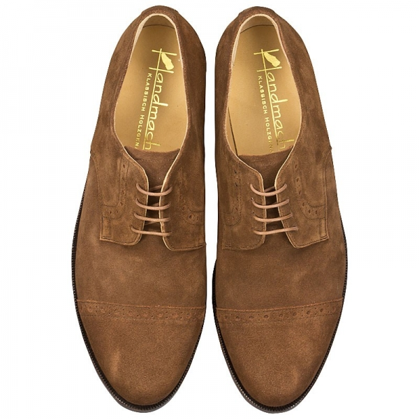 Handmacher shoes model 10 suede chestnut