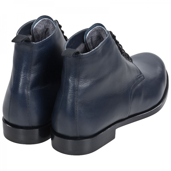 Handmacher model 58 calfskin navy bkue