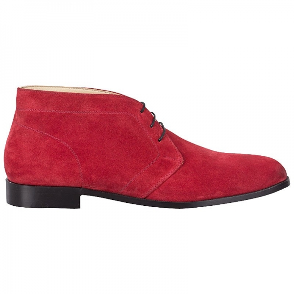 suede red boots by Handmacher