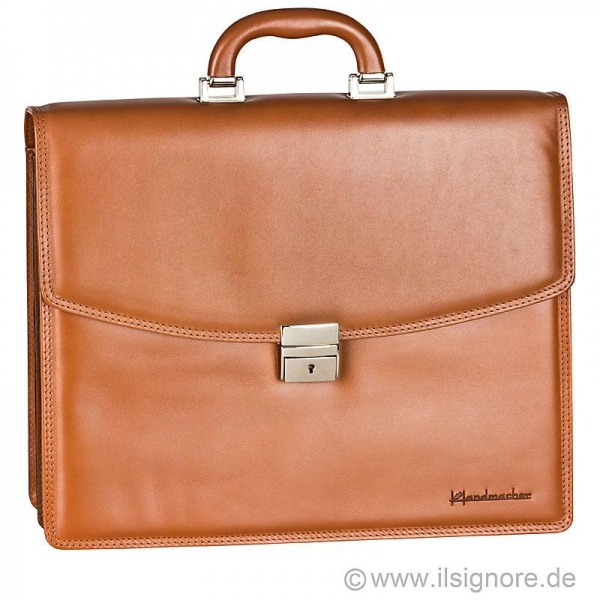 Handmacher cognac leather bag