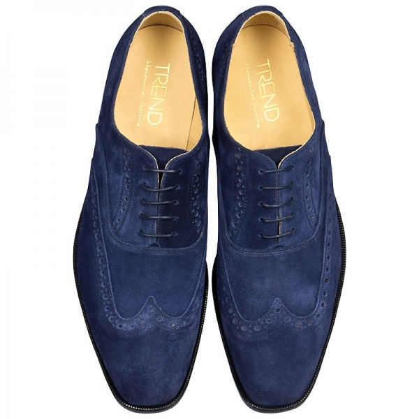 Handmacher model Trend 89 in suede blue