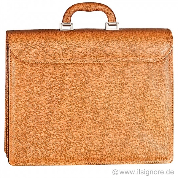Handmacher tan leather bag