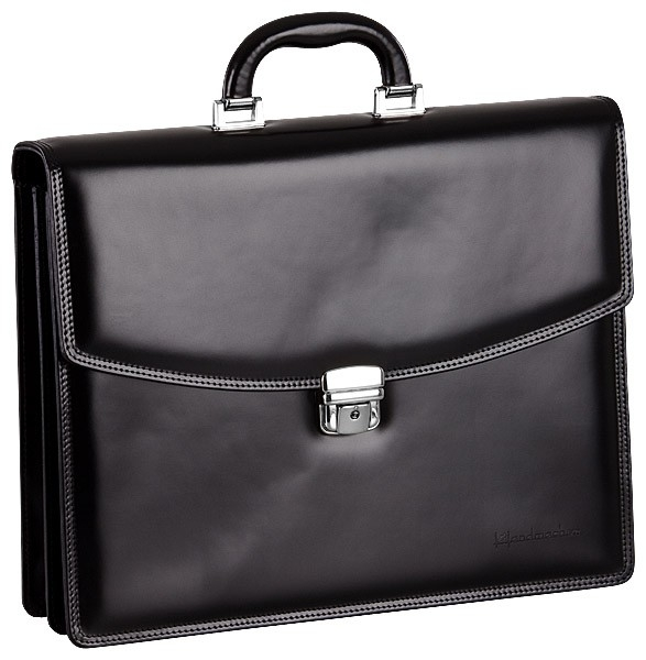 Handmacher black high gloss leahter bag