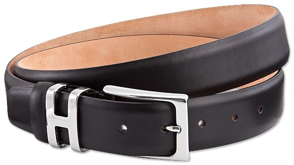 Handmacher black leather belt