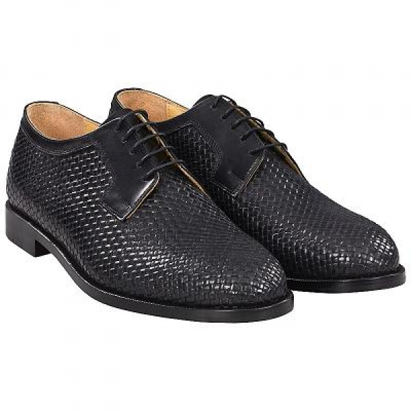 Handmacher woven leather shoes for men