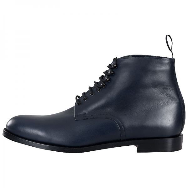 Navy blue men boots