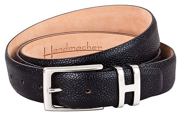 black scotchgrain leather belt