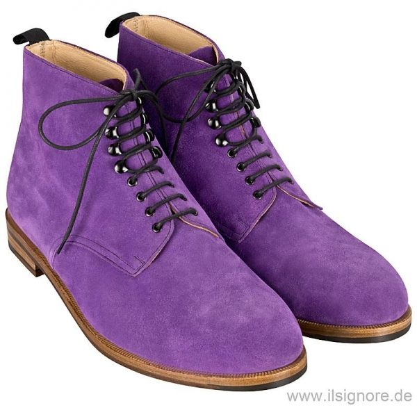 Purple boots by Handmacher