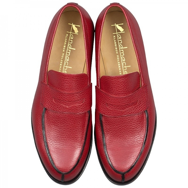 Handmacher model 54 scotch grain leather red