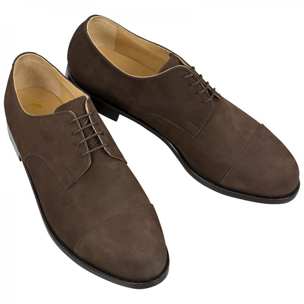 Dark brown Handmacher cap toe derby shoe