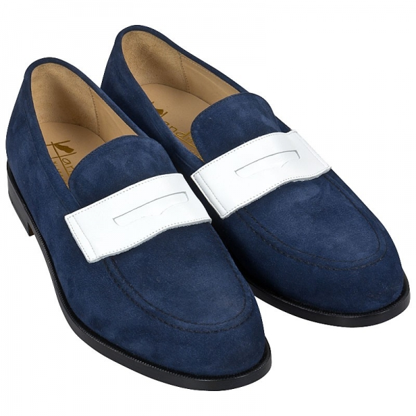 Handmacher blue loafer