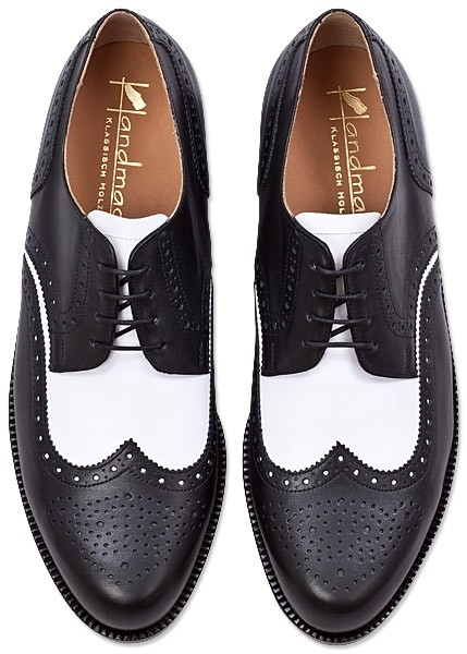 black & white brogues
