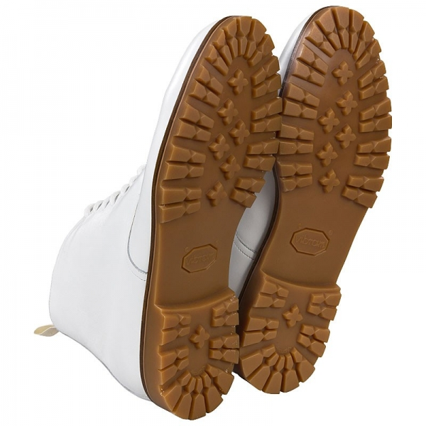 solid rubber out sole in honey color