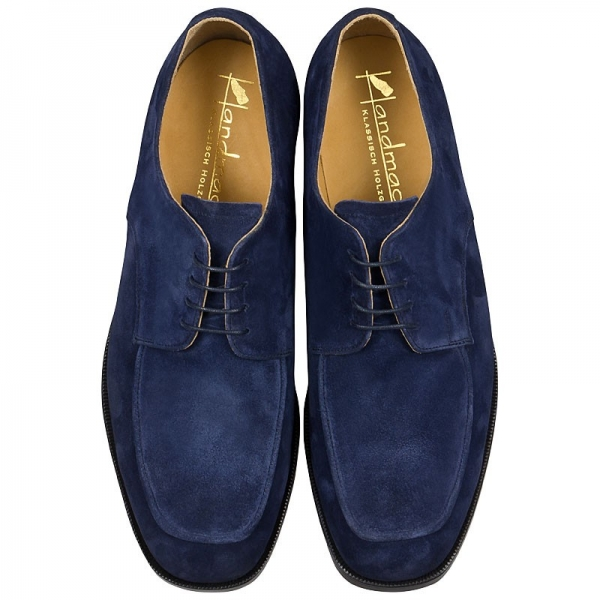 Suede shoes for men in blue color