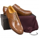 Cap-toe Derby in cognac Horween Shell Cordovan