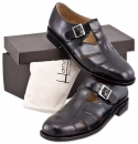 Handmacher model 38 calfskin high gloss black