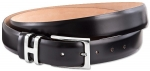 Black glossy leather belt