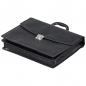 Preview: Black leather bag by Handmacher