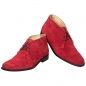 Mobile Preview: Rote Stiefeletten aus Velourleder