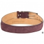 Preview: Handcrafted red suede belt